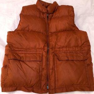 Vintage orange puffy vest